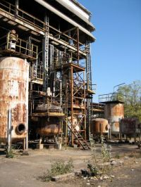 Derelict Union Carbide chemical plant in Bhopal